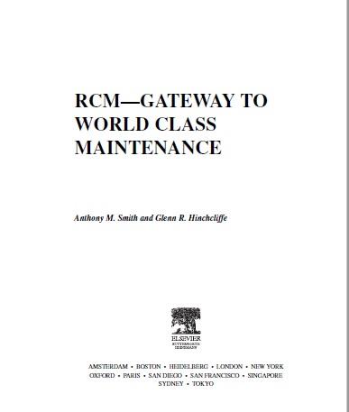 RCM Gateway to world class maintenance